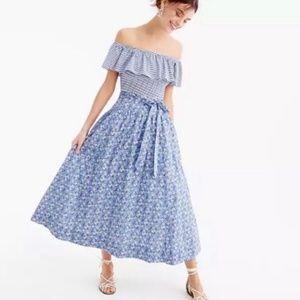 J.Crew Liberty Delilah Tulle Floral Midi Skirt 6